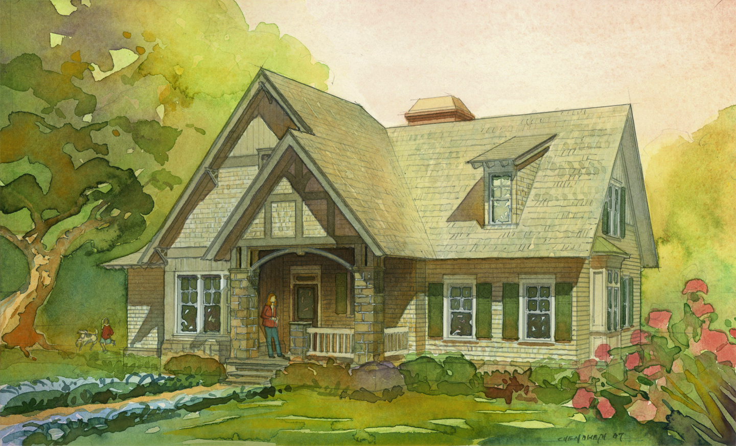English country cottage home plans